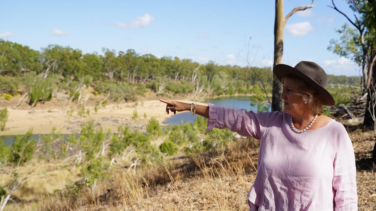 Michelle Landry surveying the site of Rookwood Weir.