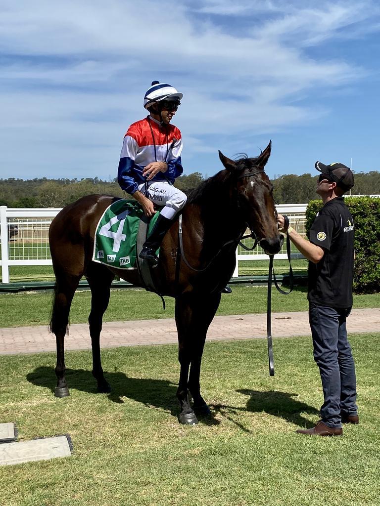 Jockey Michael Rodd aboard La Ready Rosa