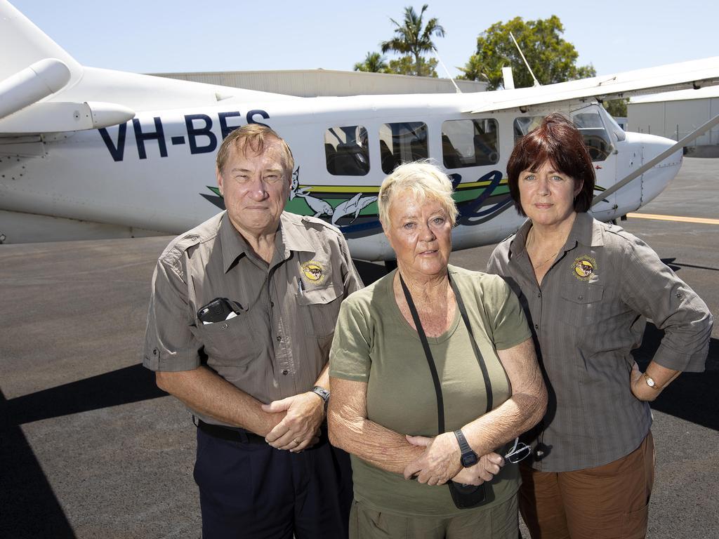 Save Fraser Island Dingos' Malcolm Kilpatrick, Cheryl Bryant and Karin Kilpatrick. Picture: Sarah Marshall
