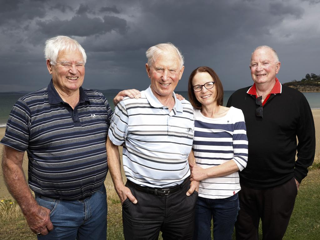 From left, Les Gore, Dirk Simons, Tanja Andrews and Peter Blackburn. Picture: ZAK SIMMONDS
