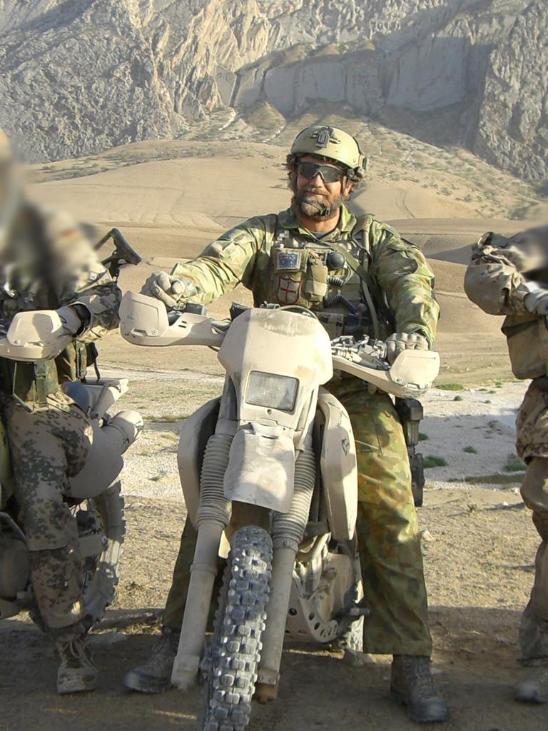 Commando Wes H Hennessey in Afghanistan. Picture: Supplied