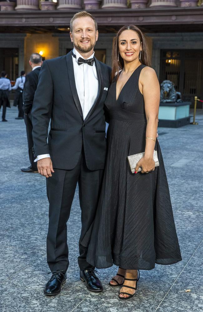 David Bond and Estelle Bou-Samra at the 2020 Lord Mayor's Business Awards. Picture: Richard Walker