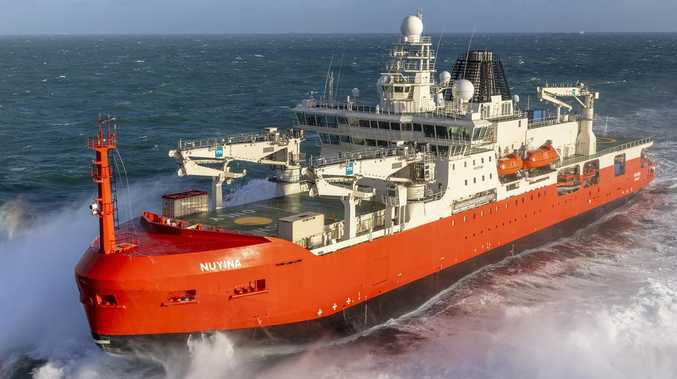 FIRST LOOK: Australia's new icebreaker takes to the sea
