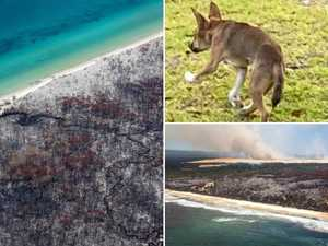 Hell from above:  Aerial shots reveal fire devastation
