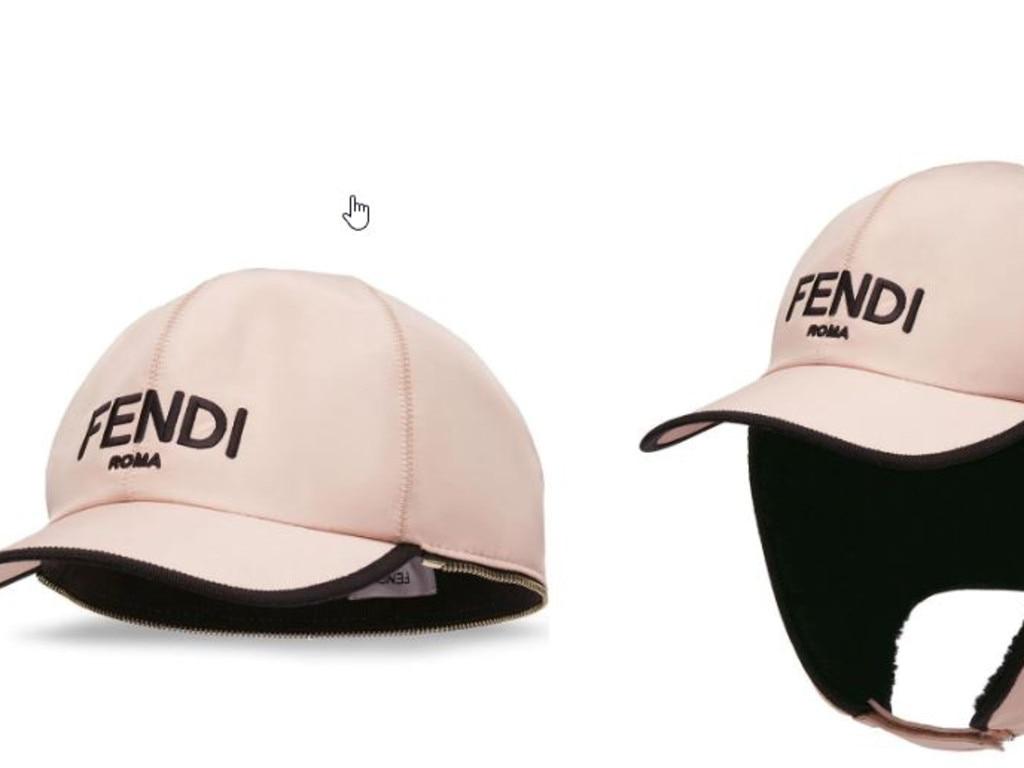 A splurge! Fendi logo trapper cap. Picture: Farfetch