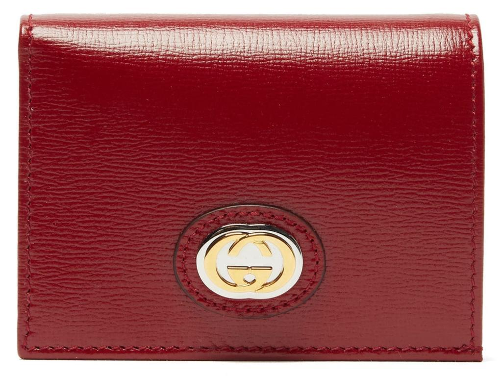 Gucci GG-plaque grained-leather bi-fold wallet. Picture: Matchesfashion