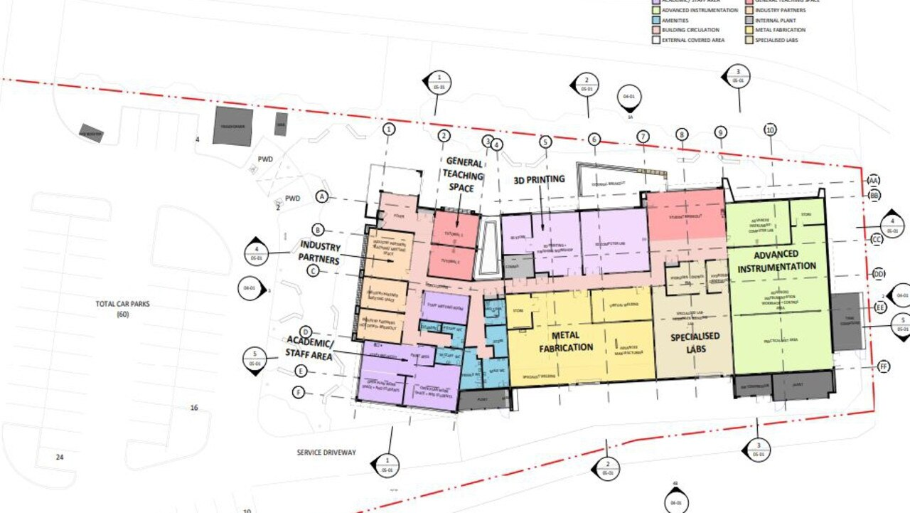 Plans of the proposed CQUniversity School of Manufacturing to be built in Gladstone.