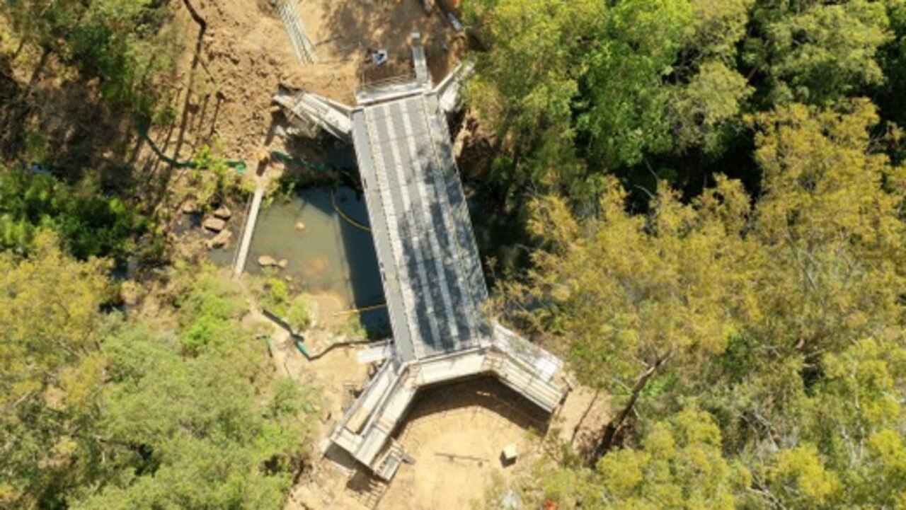Works on the Middle Creek Bridge on Sherwood Creek road are coming along nicely. Photo: Noel Backman