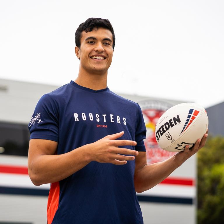 Sydney Roosters are failing to capitalise on the interest surrounding their new signing Joseph Suaalii. Picture: Roosters Digital