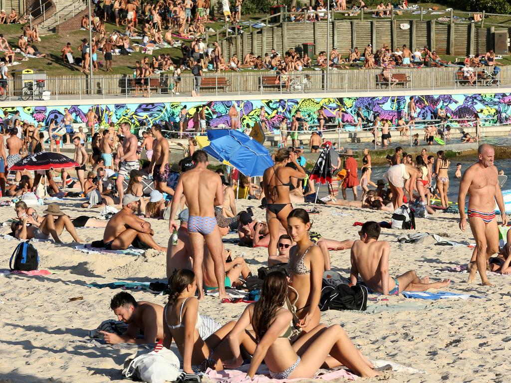 Crowds at Sydney's Bondi Beach on Friday, March 20. Images such as these caused a huge public debate. Picture: AAP Image/John Fotiadis