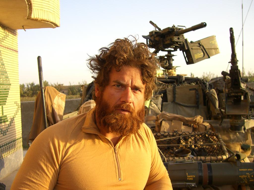 CommandoWesH Hennessey from when he was serving in the Australian Defence Force in Afghanistan. Picture: Supplied