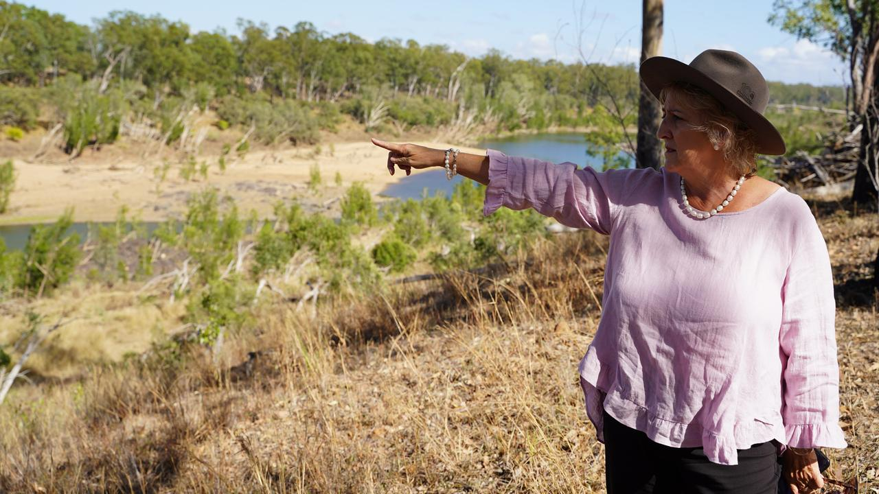Michelle Landry surveying the site of Rookwood Weir. Picture: Contributed