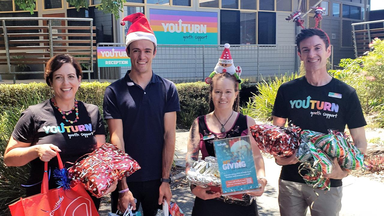 The team at Youturn looking to brighten Christmas for many in need includes Antoinette Lloyd, Haig Deere, Tarnya Tyler and Darcy Foley.