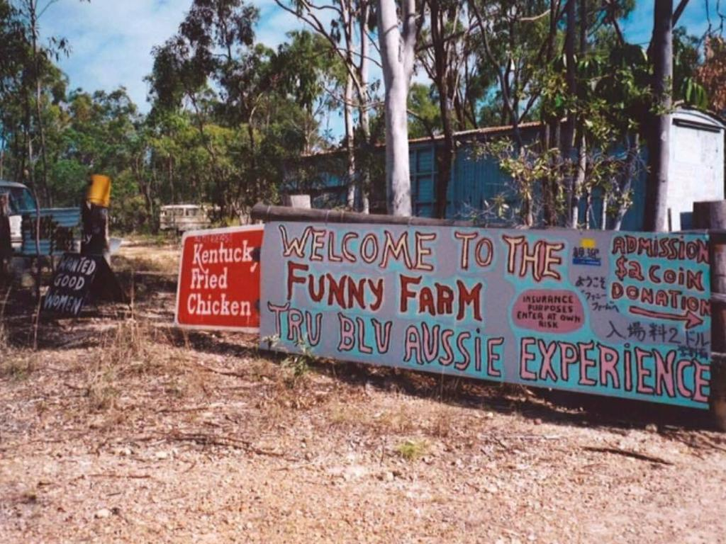 Hooper's Funny Farm on Emu Park Rd was well known to locals.