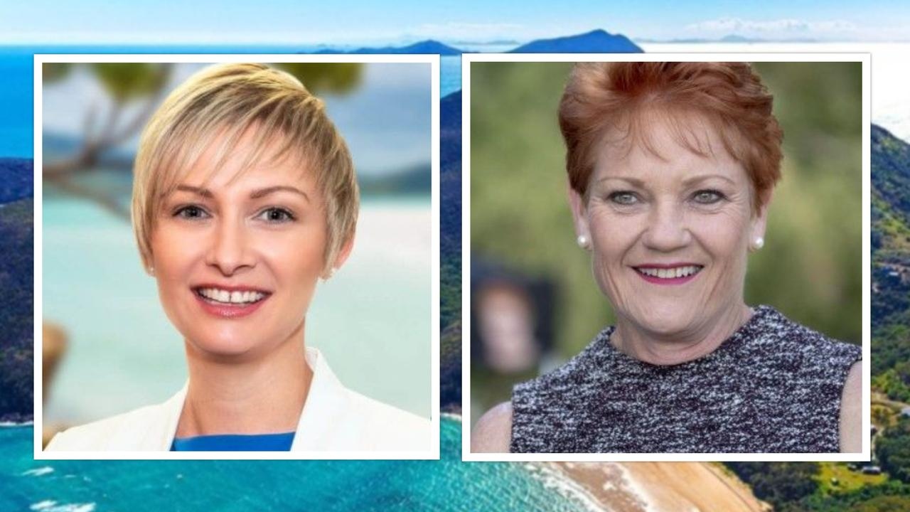 Whitsunday MP Amanda Camm and One Nation party leader and senator Pauline Hanson have joined the crusade against China Bloom's control of Keswick Island.