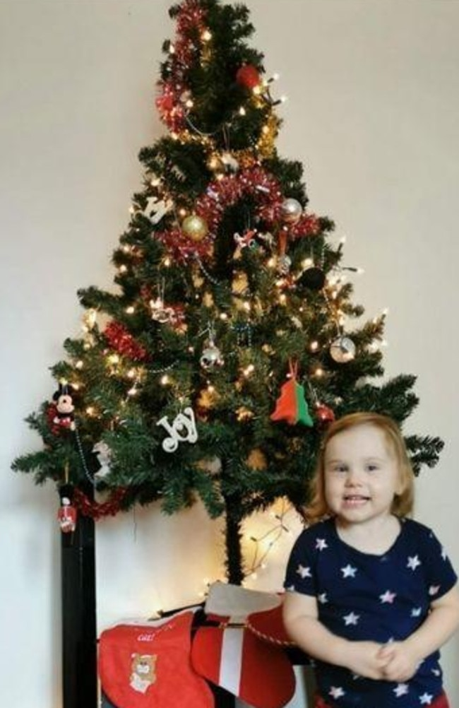 A'leasha wants her daughter to have a memorable Christmas and to enjoy her many presents. Picture: Supplied