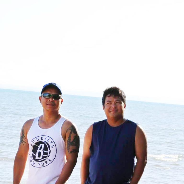 Denny Jade Caballa, 37 and Richard Catbagan, 37 who died while trying to rescue their children from dangerous surf. Photo/Facebook