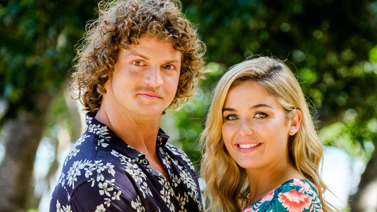 The Bachelor Nick Cummins with Sophie Tieman. Picture: Channel 10