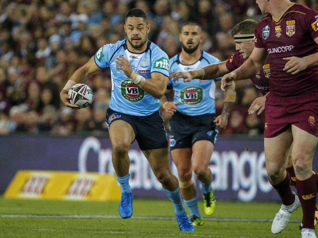 Jarryd Hayne playing for NSW in 2017. Picture: AAP Image/Glenn Hunt