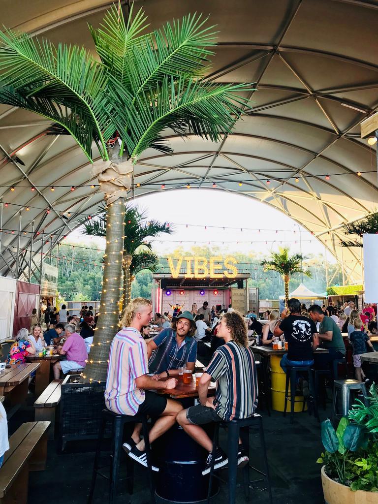 Food court at NightQuarter, Sunshine Coast.
