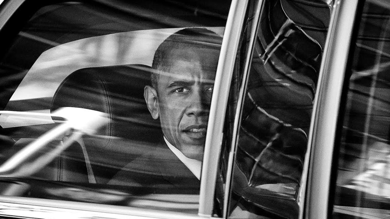President of the United States of America Barack Obama in his motorcade during the G20. Picture: Peter Wallis.