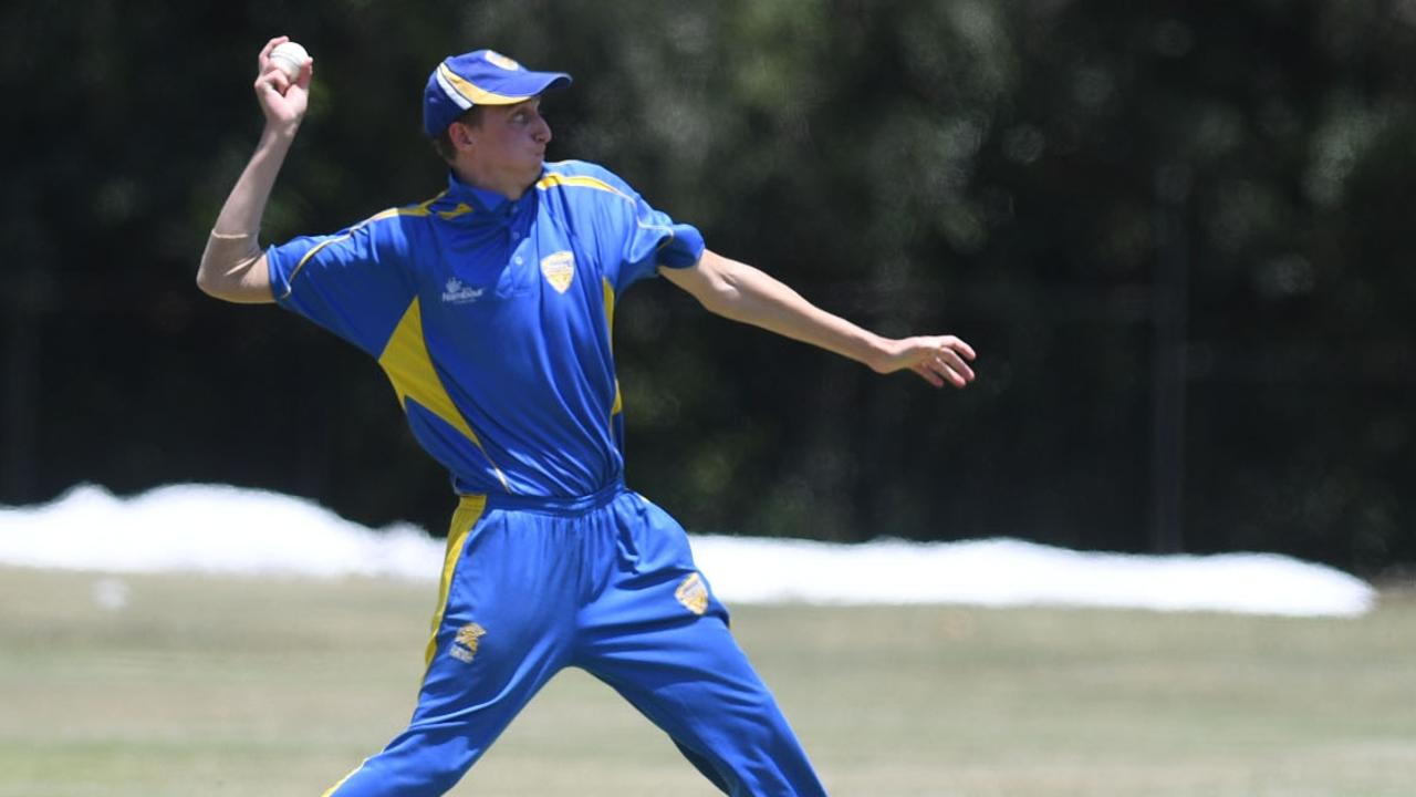 Nambour Cutters' Tim Close snared five wickets for the first time after a marathon 39 overs for 67 against Caloundra. Picture: Troy Jegers