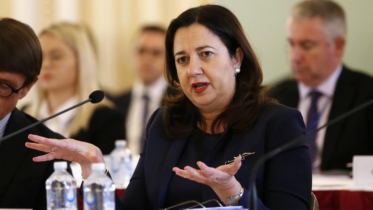 Premier Annastacia Palaszczuk during Estimates at Parliament House. Picture: Josh Woning