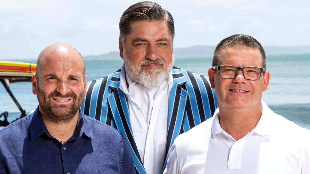 Former MasterChef judges George Calombaris, Matt Preston and Gary Mehigan. Picture: Supplied