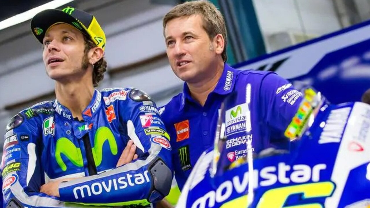 Italian professional motorcycle road racer and multiple MotoGP World Champion Valentino Rossi with Northern Rivers resident Alex Briggs.