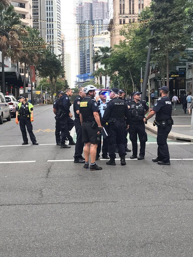 Police on scene. Photo: Bianca Stone