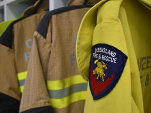 Crews fight Buxton fire from ground and up above