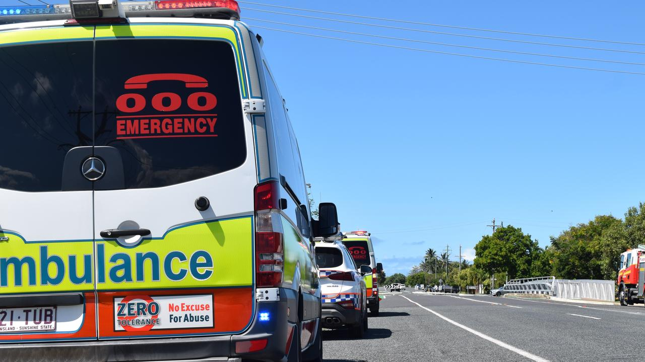 A Queensland Ambulance Service crew is taking a baby to Mackay Base Hospital. Photo: Zizi Averill.