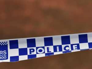 Crime scene after man found dead in Logan driveway