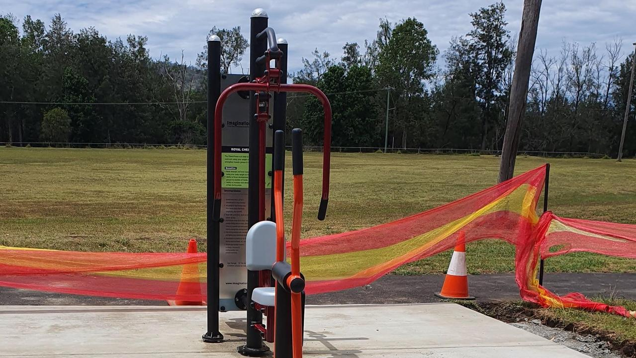 The new outdoor gym at Bonalbo.