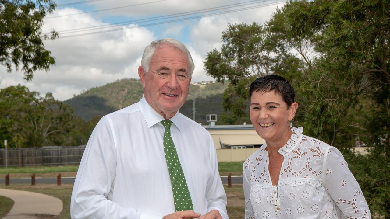 Lockyer Valley Mayor Tanya Milligan and Toowoomba Mayor Paul Antonio. Picture: Dominic Elsome