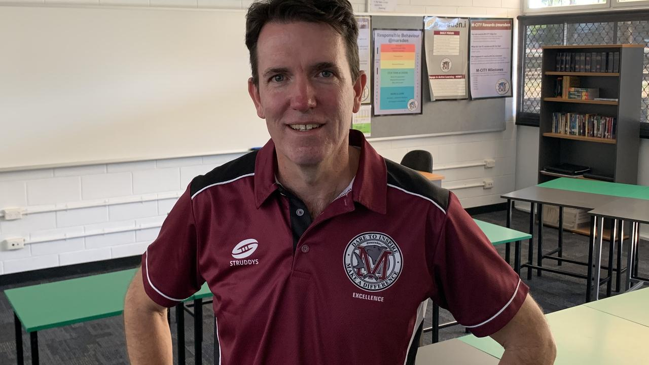 Marsden State High school principal Andrew Peach, named Australia's top principal for 2020, said the suspension data was misleading.