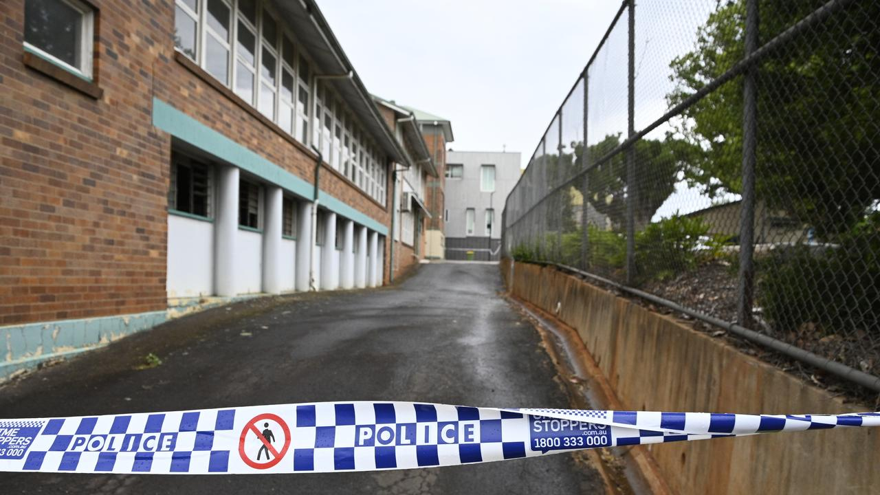 Suspicious fires in Toowoomba CBD early Monday morning. Catholic Schools Office, James Street.