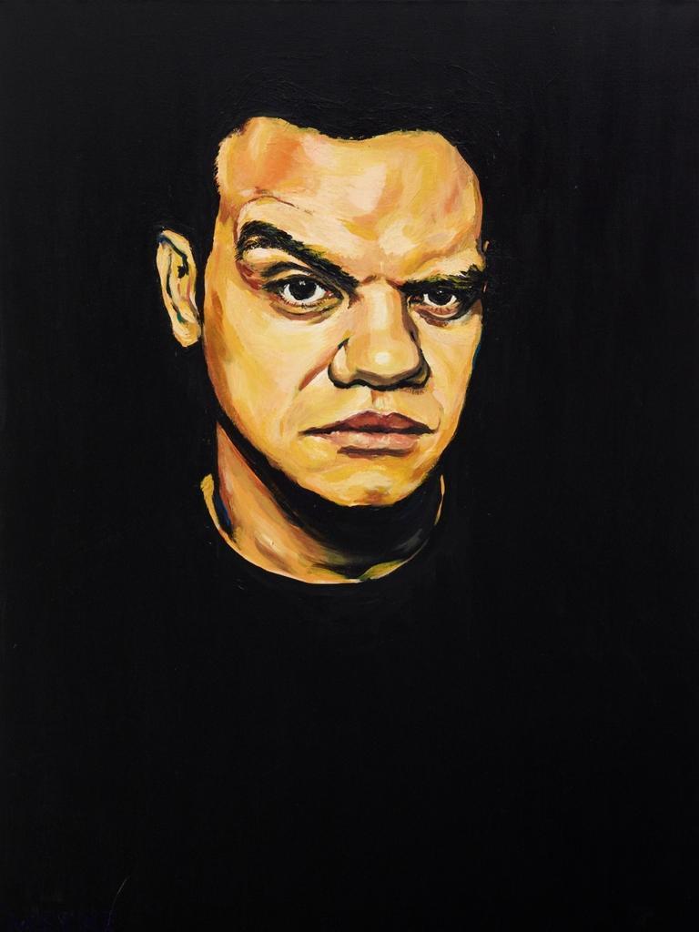 Archibald Prize 2020 finalist Meyne Wyatt Meyne acrylic on canvas, 101.5 x 76 cm the artist Photo: AGNSW, Mim Stirling Sitter: Meyne Wyatt – actor, writer