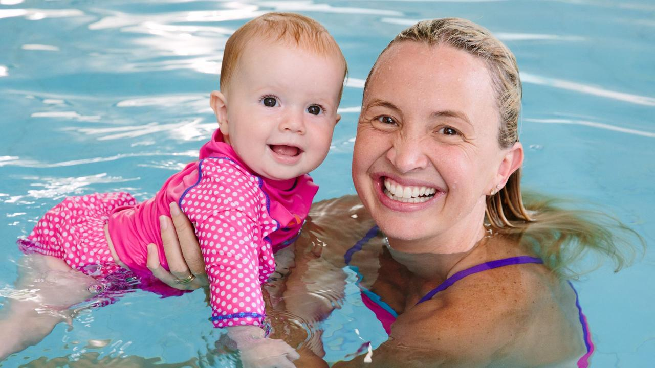 Brooke Hanson of AUSTSWIM is delighted with how the NAC is teaching kids to swim.