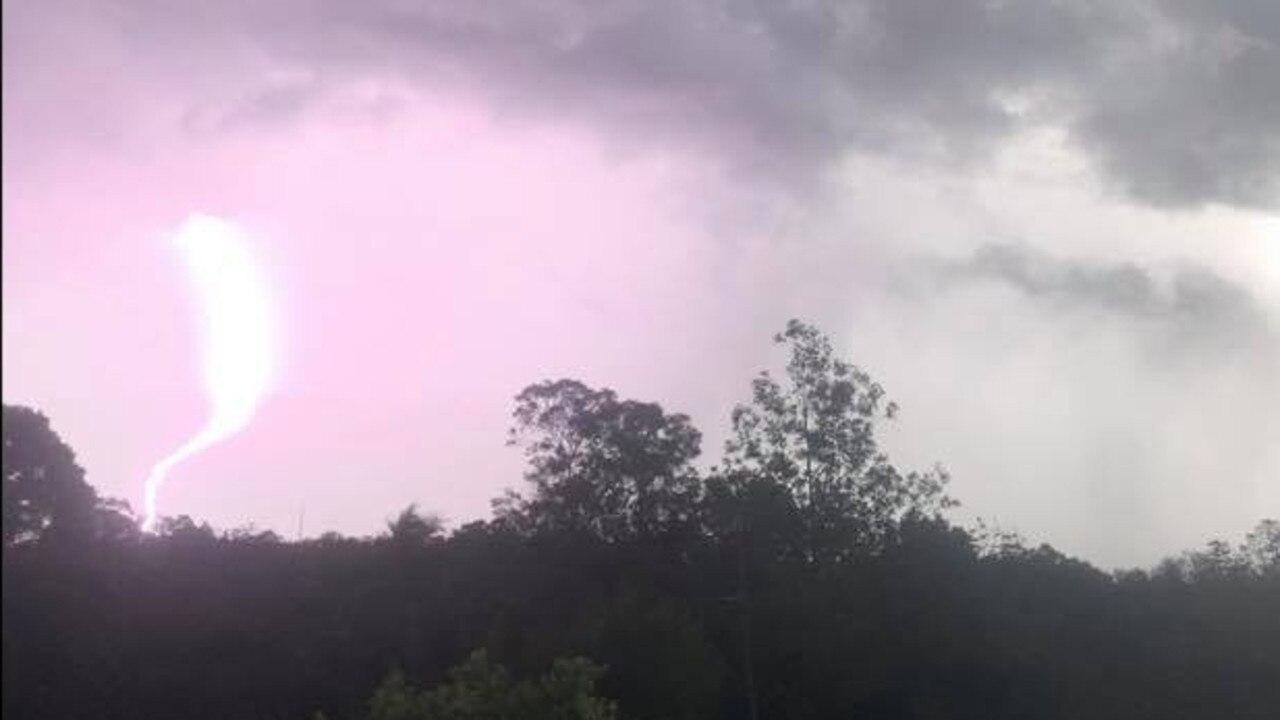 Photo: Marguerita Vorobioff captured this lightning strike over Imbil yesterday afternoon.