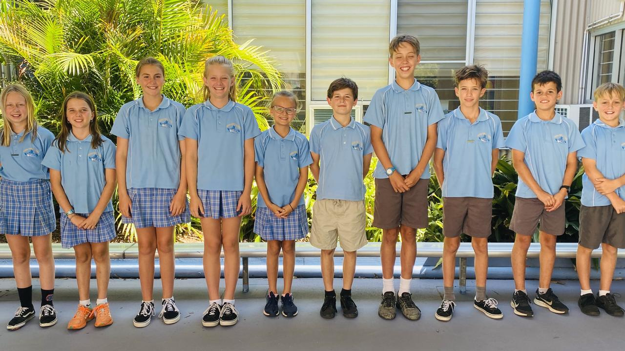 The Yamba Public School student leadership group for 2021.