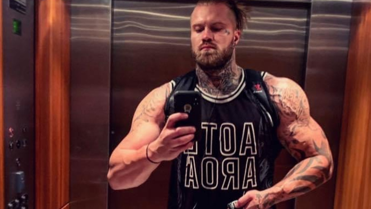 An enormous bodybuilder who breached his probation for an ice-fuelled assault on his former partner has been issued a stern warning by a magistrate.