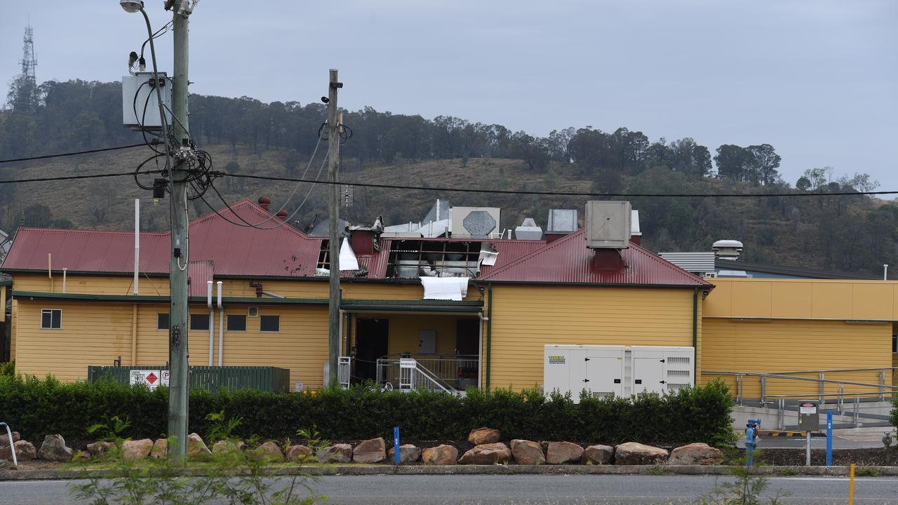 A fire on Tuesday, December 8, has caused damage to Porters Plainland Hotel, at Plainland. Photo: Ali Kuchel