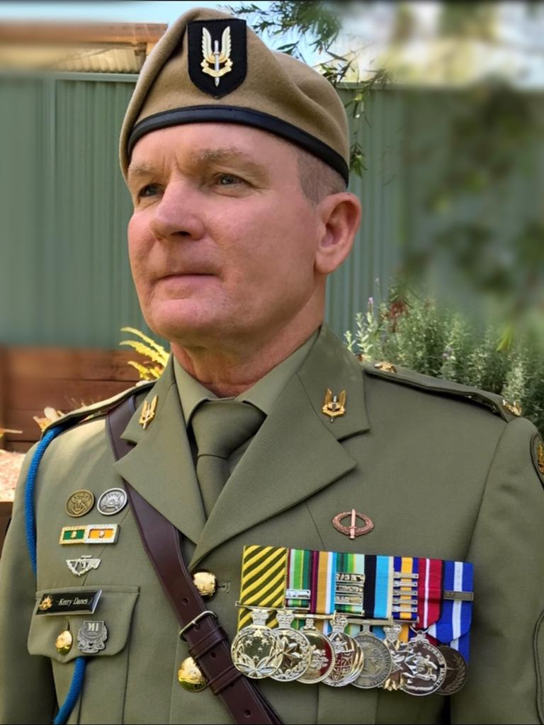 Retired Command Sergeant Major Kerry Danes would be among those having his medals stripped. Picture: Supplied