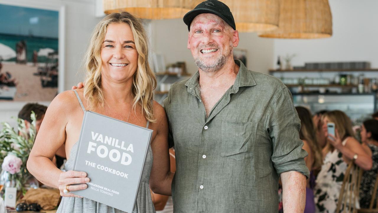 Cookbook creator Nilla Tomkins with Noosa chef Matt Golinski.