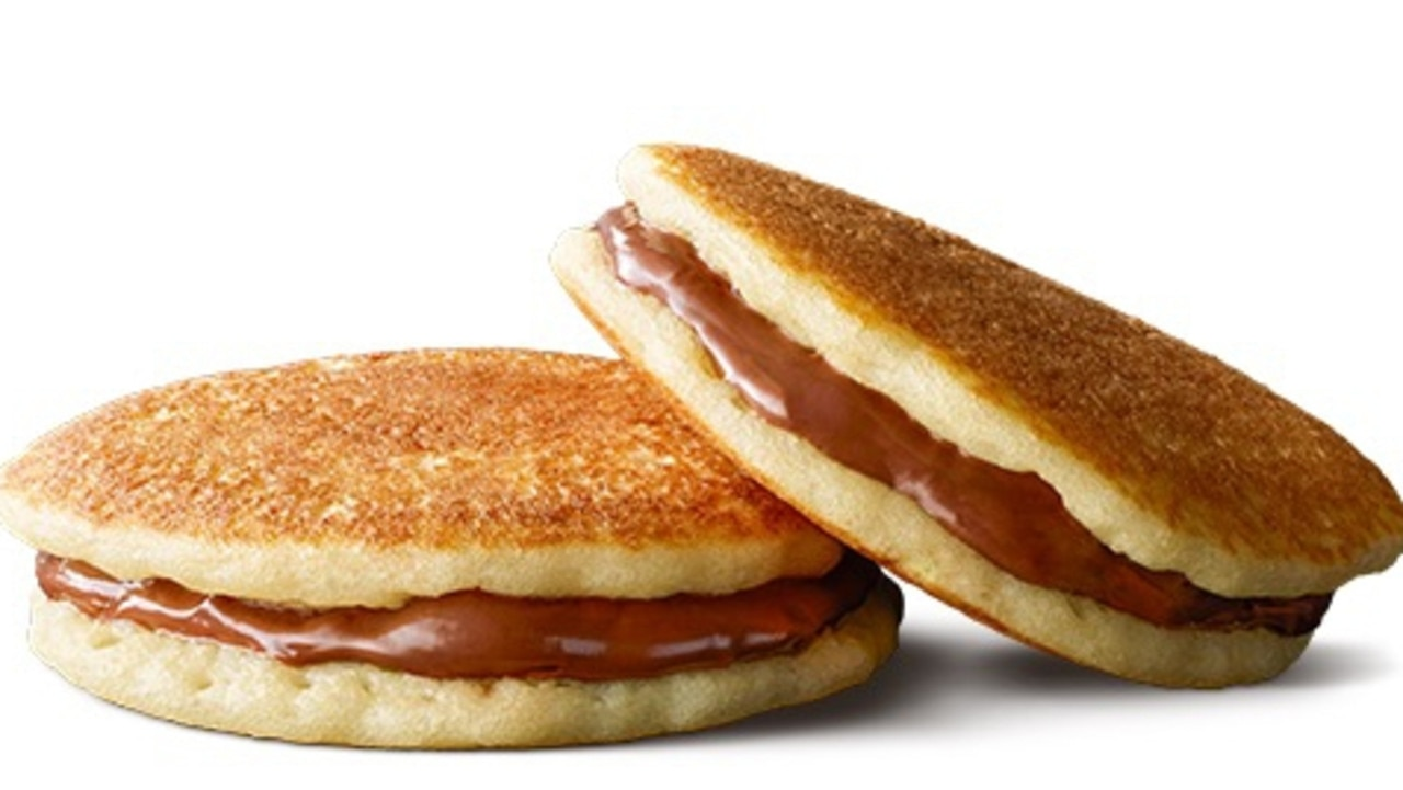 The new McDonald's Hotcakes with Nutella will be available until mid-February. Picture: Supplied