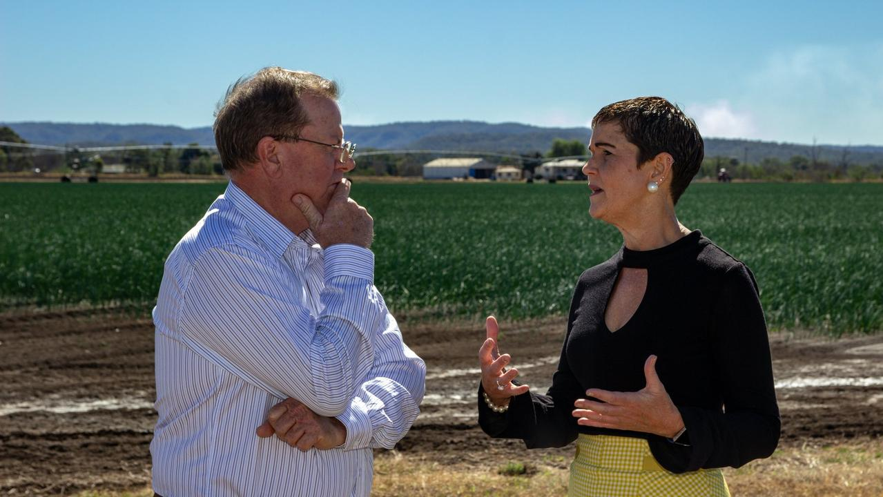 Lockyer Valley and Somerset Water Collaborative Chair Stephen Robertson and Lockyer Valley Regional Council Mayor Tanya Milligan discuss the $1.4 million funding boost for a business case to ensure water security in the region. Copyright, NCA.