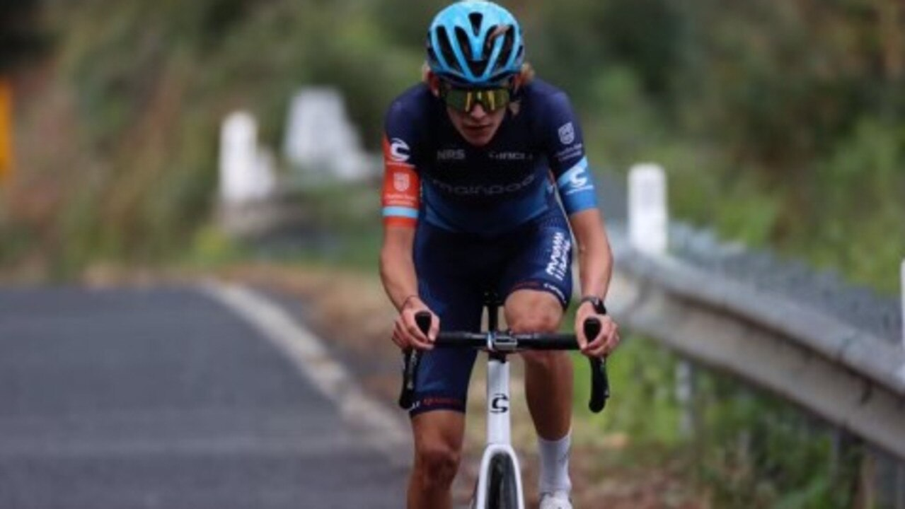 Former Alligator Creek cyclist Alex Bogna in action for Avantias Pro Racing in the National Road Series (NRS).