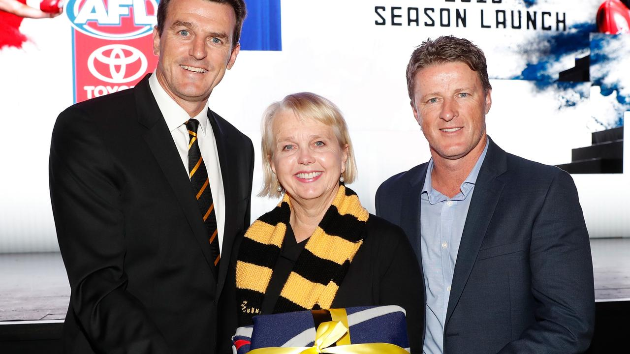 Richmond hierarchy, including Tigers chief Brendon Gale, president Peggy O'Neal and coach Damien Hardwick are in the series. Picture: Michael Willson