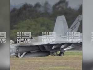 Moment RAAF pilots eject from crashed jet